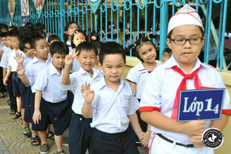 áo đồng phục học sinh tiểu học