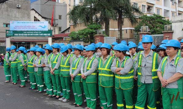 Đồng phục công nhân môi trường là một trong những mặt hàng bán chạy tại công ty An Nhiên
