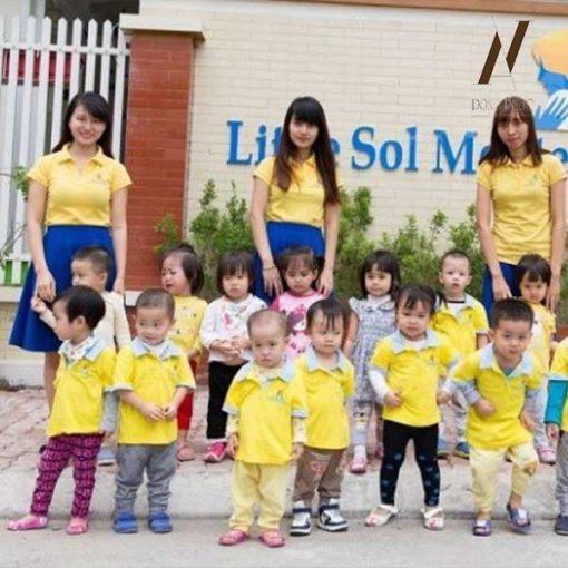 Đồng Phục Mần Non Áo Vàng Váy Xanh DPMN6