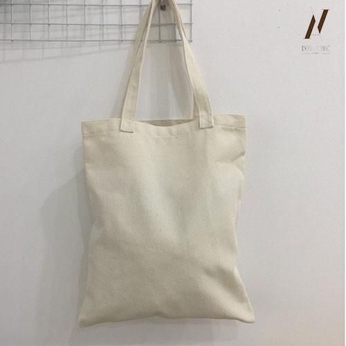 Túi vải canvas trắng trơn TVC002